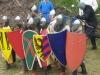Kampflinie des 13. Jahrhunderts